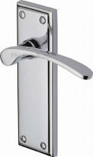 Heritage Hilton Latch Door Handles HIL8610 Polished Chrome