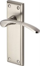 Heritage Hilton Latch Door Handles HIL8610 Satin Nickel