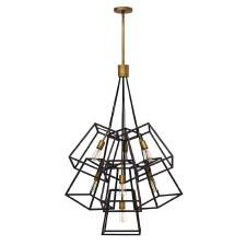 Hinkley Fulton Chandelier 7 Light Bronze