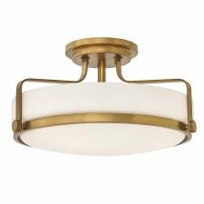 Elstead Harper Semi Flush Light Medium Heritage Brass