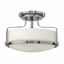 Elstead Harper Semi Flush Light Small Polished Chrome