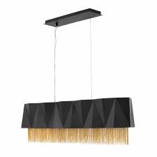 Hinkley Zuma 5 Light Pendant Satin Black and Gold