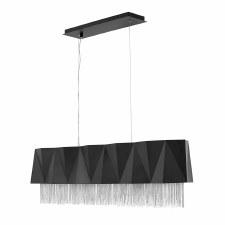 Hinkley Zuma 5 Light Pendant Satin Black and Silver