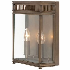 Elstead Holborn Outdoor Wall Light Lantern Large Dark Bronze