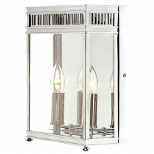 Elstead Holborn Large Outdoor Wall Light Lantern Polished Chrome