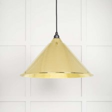 From The Anvil Hockley Pendant Light Hammered Brass