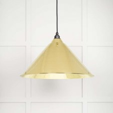 From The Anvil Hockley Pendant Light Smooth Brass