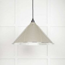 From The Anvil Hockley Pendant Light Hammered Nickel Interior Nickel