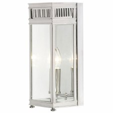 Elstead Holborn Small Outdoor Wall Lantern Polished Chrome