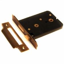 127mm Horizontal Bathroom Door Lock Hand Aged Brass