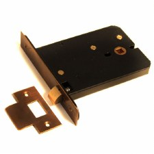 Horizontal Mortice Door Latch 127mm Hand Aged Brass