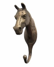 Horse Head Tack Hook Solid UK Bronze
