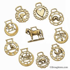 Horse Brasses Set of 10