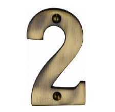 Heritage House Numbers C1566 2 Antique Brass