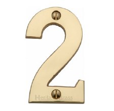 Heritage House Numbers C1566 2 Polished Brass
