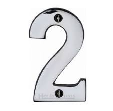 Heritage House Numbers C1566 2 Polished Chrome