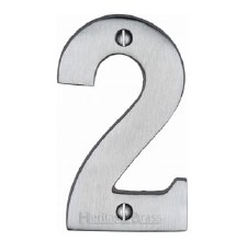 Heritage House Numbers C1566 2 Satin Chrome