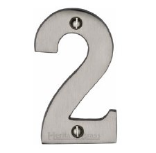 Heritage House Numbers C1566 2 Satin Nickel