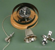 Butler or Housekeepers Bell with Lady Antique Nickel