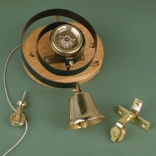Butler or Housekeepers Bell with Flower Renovated Brass Look
