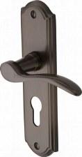 Heritage Howard Euro Lock Door Handles HOW1348 Matt Bronze