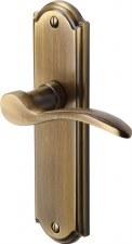 Heritage Howard Latch Door Handles HOW1310 Antique Brass Lacquered