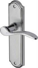 Heritage Howard Latch Door Handles HOW1310 Satin & Polished Chrome