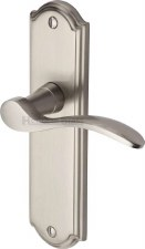 Heritage Howard Latch Door Handles HOW1310 Satin Nickel