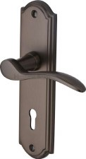 Heritage Howard Door Lock Handles HOW1300 Matt Bronze