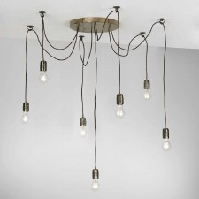 David Hunt HUC3463 Huckleberry 7 Light Cluster Pendant Bronze