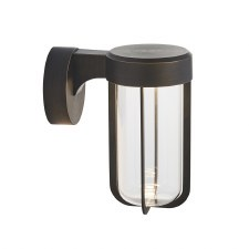 Hurn Wall Light Brushed Bronze Clear Glass LED