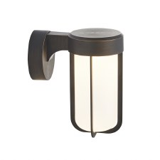 Hurn Wall Light Brushed Bronze Frosted Glass LED