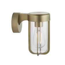 Hurn Wall Light Brushed Gold Clear Glass E27