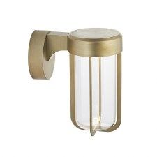 Hurn Wall Light Brushed Gold Clear Glass LED