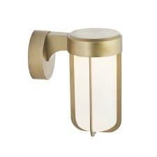 Hurn Wall Light Brushed Gold Frosted Glass LED