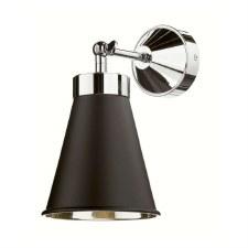 David Hunt HYD0722C Hyde Single Wall Light Chrome with Black Shade