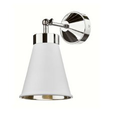 David Hunt HYD0702C Hyde Single Wall Light Chrome with Arctic White Shade