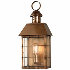 Elstead Hyde Park Flush Outdoor Wall Lantern Antique Brass