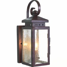 Elstead Hythe Flush Outdoor Wall Light Lantern