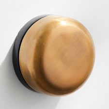 Imperial De-Luxe Wind-Up Door Bell Antique Brass Unlacquered