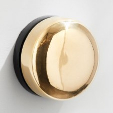 Imperial De-Luxe Wind-Up Door Bell Polished Brass Unlacquered