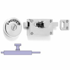 Samuel Heath Indicator Bolt With Plain Knob Polished Chrome
