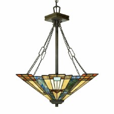 Quoizel Inglenook Tiffany Medium Pendant Valiant Bronze
