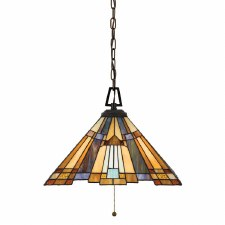 Quoizel Inglenook Tiffany Small Pendant Light Valiant Bronze