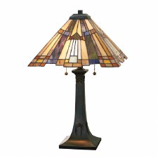 Quoizel Inglenook Tiffany Table Lamp Valiant Bronze