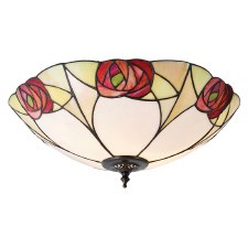 Interiors 1900 Ingram Tiffany Flush Ceiling Light