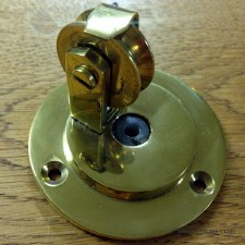 Blanking Pulley for Butlers Door Bell Renovated Brass Unlacquered
