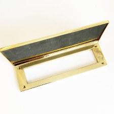 "Internal Letter Plate/Tidy 10"" Polished Brass"