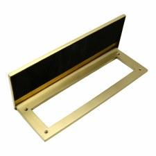 "Internal Letter Plate/Tidy 12"" Satin Brass"
