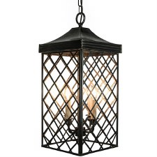Ivy Hanging Lantern Large Antique Brass